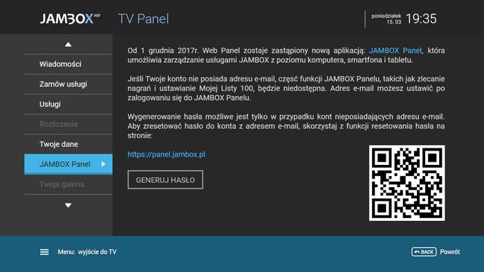 Jambox Panel TV