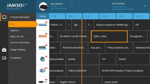 Jambox Panel - desktop-epg