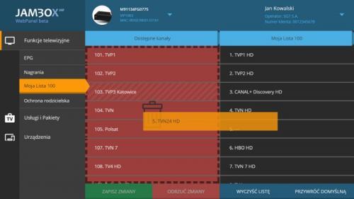 Jambox Panel - desktop - moja lista 100